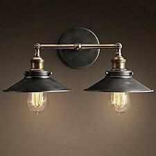NERO VINTAGE Wall Light Shade moderna industriale Loft RUSTIC Metal placcatura Lampada