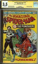 CGC Amazing Spider-Man #129 Signed Stan Lee John Romita 3.5 1st Punisher