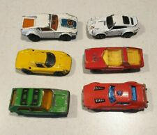 New listing Vintage 70s Matchbox 6 Diecast Mixed Toy Cars in used condition dated 1971-1978