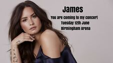 Demi Lovato Concert Tickets Seats Present Birthday PostCard A5 260gsm