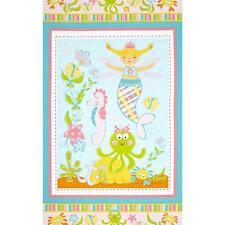 Magical Mermaids Cotton Quilt Fabric Panel Marcus Brothers Bfab Mm