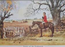 THELWELL VINTAGE PRINTS -  HUNTING - MASTER OF THE FOXHOUNDS