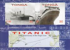 Tonga - Block 53B -  2012 - Schiff - Titanic - postfrisch