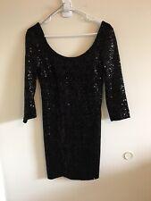 Women's Mimi Chica Pretty Sequined Black Dress • Size M • Party Dress Holidays U