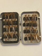 32Pcs Artificial Fly Fishing Nymph Trout, Pan Fish, includes tackle box.