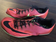 New Nike Zoom 400 Track Spikes Men's Size 13 Red Black Green