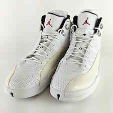 NIKE Air Jordan 12 XII Retro Rising Sun White Black Red Size 12 130690-163 NWOB