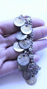 Vintage Tribal Boho Faux Coin Anklet