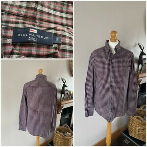 mens blue harbour multicoloured check shirt long sleeves 100% cotton