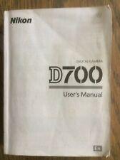 NIKON D700 Digital SLR Camera Original USER GUIDE Instruction Manual (English)