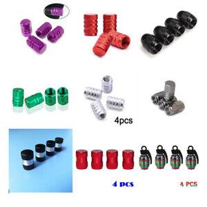 4x Aluminum Tire Tyre Wheel Rim Air Valve Stem Dust Cap Cover Car Accessories