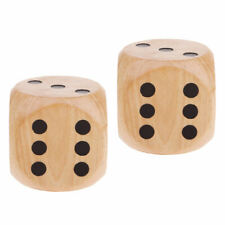 2x Large 5cm Wooden D6 Dice Set For DND RPG Math Teaching Table Board Games Wood