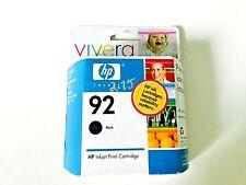 HP 92 Black Inkjet Cartridge Vivera Expired 5 ml.  0.17 fl.  oz.
