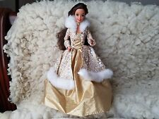 1995  Mattel Winter Fantasy Barbie Doll Brunette  deboxed Collector owned