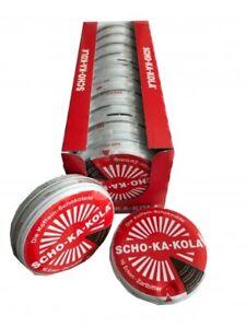 12 x 100 g Scho-Ka-Kola Zartbitter - koffeinhaltig - Energieschokolade