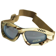 Commando Air Pro Goggles Eyes Protection Paintball Airsoft Tactical Desert Camo