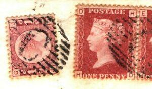 GB QV Halfpenny USED ABROAD CONSTANTINOPLE British Levant 1878 Cover Devon 47e