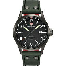 Swiss Military Hanowa Undercover 6-4280.13.007.6 Men's Green Leather Strap Watch