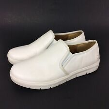 Nurse Mates Adela Size 11W Pillow Top Slip Resistant Sneaker White Leather