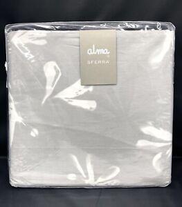 SFERRA Alma by SFERRA Alumbra Queen Duvet Cover 3 Piece Set - Gry / Snow
