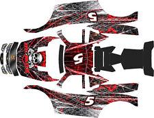 LOSI 5T MTXL BLACK WIDOW   body wrap decals stickers