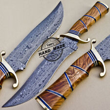 Nuevo Cuchillo Machete Damasco personalizado hecho a mano cuchillo De Acero Damasco 1083