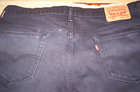 New Levi's 569 Mens Black 36 32 Mid-Rise Loose Fit Straight Leg Jeans $59 NWOT