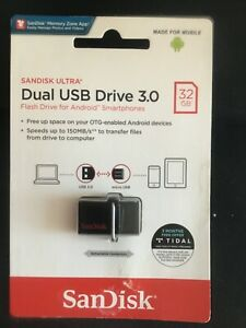 SanDisk Ultra Dual USB Drive 3.0 32GB Flash Drive for Android BN & sealed