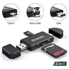 3in1 USB-C Type C USB 2.0 Micro USB OTG SD TF MMC Card Reader For Huawei Macbook