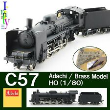 "HO Brass Adachi JNR C57 ""Noble Lady"" Steam Loco 2-C-1 Well run No lights Japan"