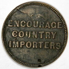 1860 CANADA COPPER ROBERT PURVES CHEAP FAMILY STORE TOKEN - PRICED RIGHT!!!