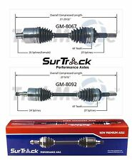 For Buick Reatta Electra Olds 98 Delta 88 FWD Pair 2 Front CV Axles SurTrack Set