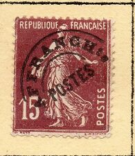 """FRANCE = 15c """"Sower"""" with Pre-Cancel. MH or Used (No Gum) Hinged to page. (a)"""