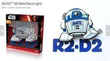 Official Star Wars R2-D2 3D FX Deco Mini Wall Home LED Night Light