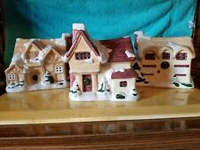 Christmas village houses lot of 3