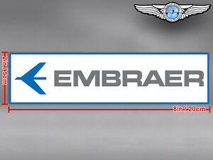 EMBRAER LOGO RECTANGULAR DECAL / STICKER