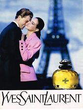 PUBLICITE ADVERTISING 015  1989  YVES SAINT LAURENT  parfum YL femme