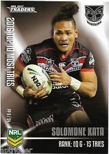 2017 NRL Traders Pieces of the Puzzle (PP 8/54) Solomone KATA Warriors
