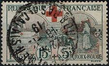 FRANCE CROIX ROUGE N° 156 OBLITERE CACHET A DATE - BON CENTRAGE - COTE 70 €