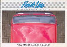 Mazda E2000 & E2200 Van Accessories circa 1990 Original UK Sales Brochure