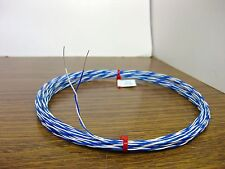 120 feet solid 26 AWG Silver Plated Wire Twisted Pair Gore blue white