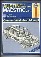 Maestro petrol Haynes Owner's Workshop Manual No.922 1983-1989 1275cc & 1598cc