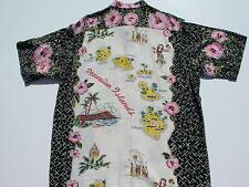 """""""Map of Hawaiian Islands"""" NEW Reyn Spooner Hawaii shirt - XL"""