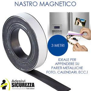 NASTRO AUTOADESIVO MAGNETICO SCOTCH CALAMITA MAGNETE ATTACCA 30mm x 3 Metri