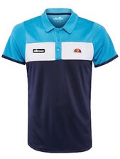 ELLESSE Men's ORSI Tennis Sport Casual Polo - Azure Blue - Size Medium