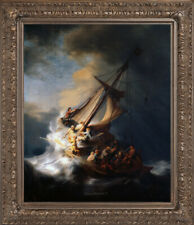 Old Master Art Portrait Jesus Christ in the Storm Oil Painting Unframed 30x40