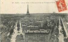 75 PARIS AVENUES KLEBER ET IENA VUES DE ARC DE TRIOMPHE TOUR EIFFEL GRANDE ROUE
