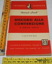 SAINT-JUST - DISCORSI ALLA CONVENZIONE - Universale Economica - libri usati