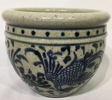 Vintage Chinese Porcelain Blue and White Vase Bowl