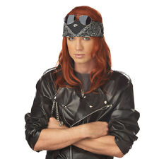 Hollywood Rocker Wig Axl Rose Costume Guns 'n Roses 90's 80's Axel Auburn New
